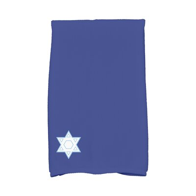 Stars Corner Geometric Print Hand Towel Color: Blue