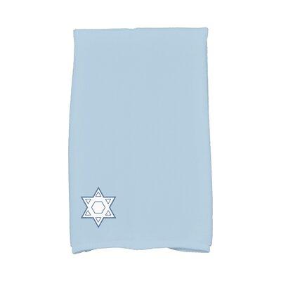 Stars Corner Geometric Print Hand Towel Color: Light Blue