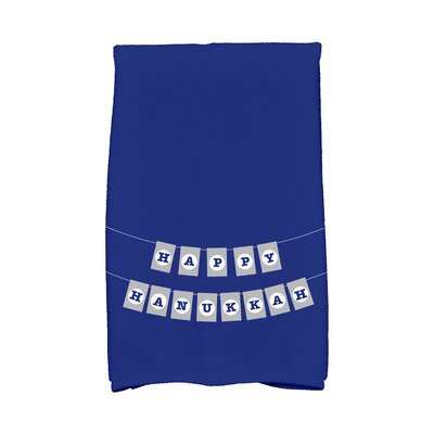 Banner Day Word Print Hand Towel Color: Blue