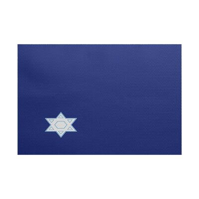Stars Corner Geometric Print Blue Indoor/Outdoor Area Rug Rug Size: 4 x 6