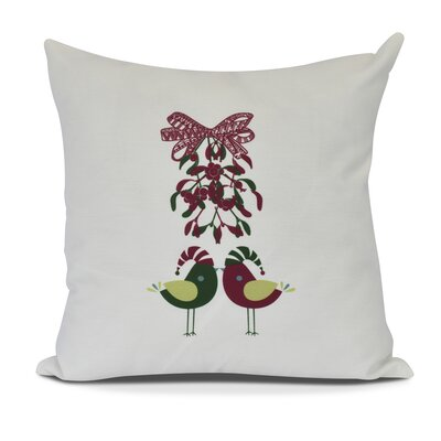 Love Birds Throw Pillow Size: 16 H x 16 W