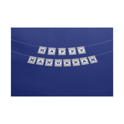 Banner Day Word Print Royal Blue Indoor/Outdoor Area Rug Rug Size: 4 x 6