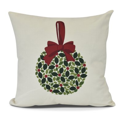 Mistletoe Me Throw Pillow Size: 16 H x 16 W, Color: Cream
