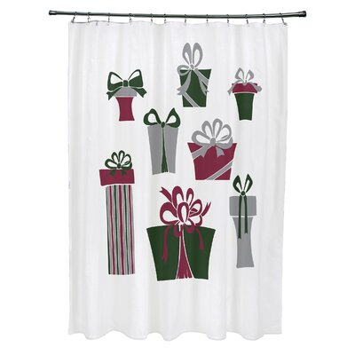 Present Time Shower Curtain Color: White