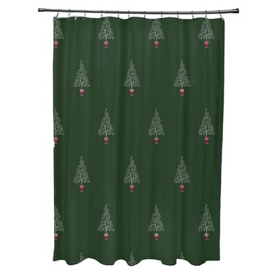 Filigree Forest Shower Curtain Color: Green