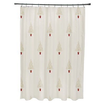 Filigree Forest Shower Curtain Color: Off White