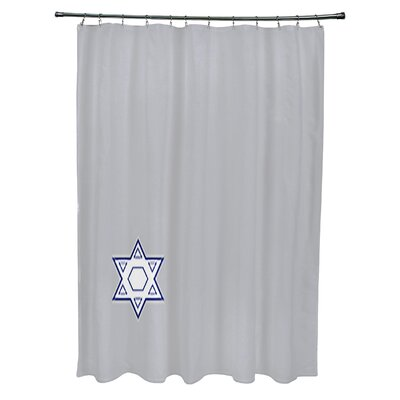 Stars Corner Geometric Print Shower Curtain Color: Gray