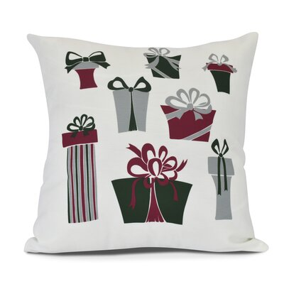 Present Time Outdoor Throw Pillow Size: 16 H x 16 W, Color: White