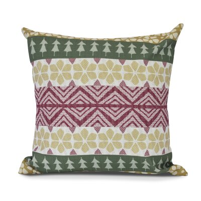 FairIsle Outdoor Throw Pillow Size: 18 H x 18 W, Color: Green