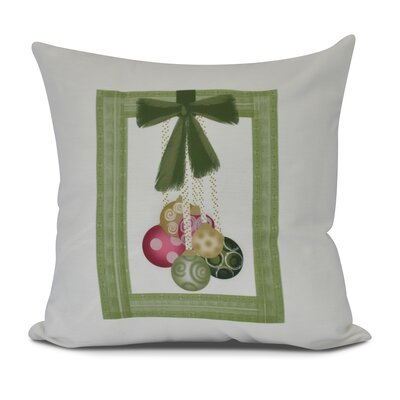 Frame It Up Outdoor Throw Pillow Color: Bright Green, Size: 20 H x 20 W