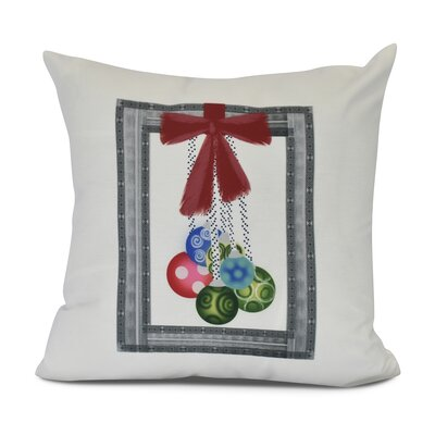 Frame It Up Outdoor Throw Pillow Size: 20 H x 20 W, Color: Gray