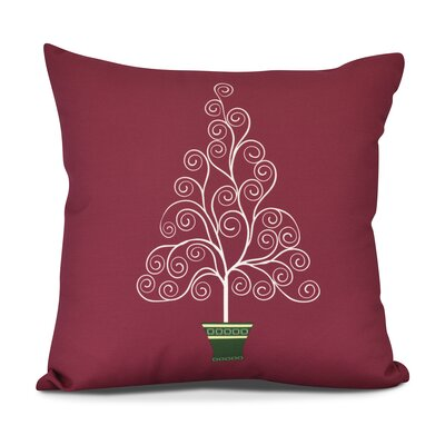 Away He Goes Throw Pillow Size: 18 H x 18 W, Color: Red