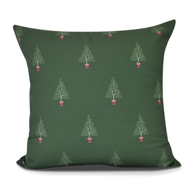 Filigree Forest Throw Pillow Size: 16 H x 16 W, Color: Green