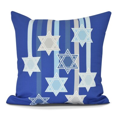 Shooting Stars Throw Pillow Color: Royal Blue, Size: 20