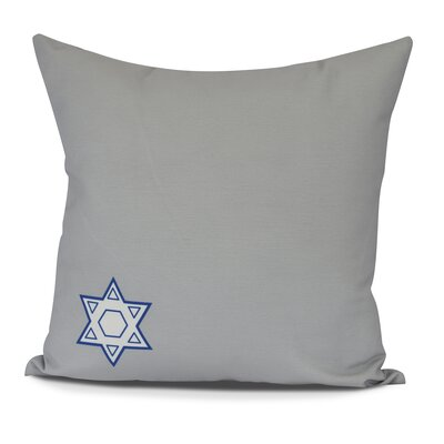 Stars Corner Geometric Print Outdoor Throw Pillow Size: 16 H x 16 W, Color: Gray