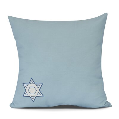 Stars Corner Geometric Print Outdoor Throw Pillow Size: 18 H x 18 W, Color: Light Blue