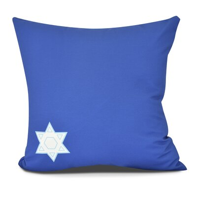 Stars Corner Throw Pillow Size: 16 H x 16 W, Color: Blue