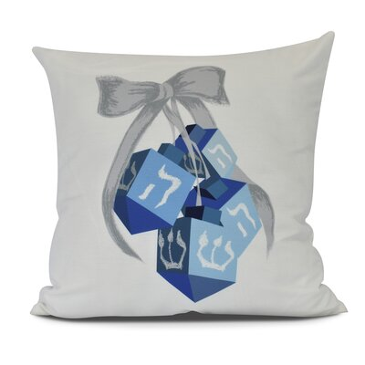 Turn, Turn, Turn Outdoor Throw Pillow Size: 16 H x 16 W, Color: White
