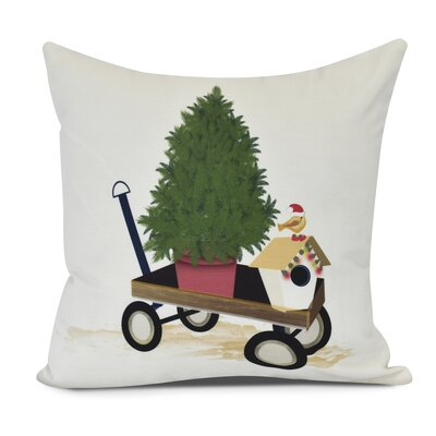 Take Me Home Throw Pillow Size: 18 H x 18 W, Color: Off White