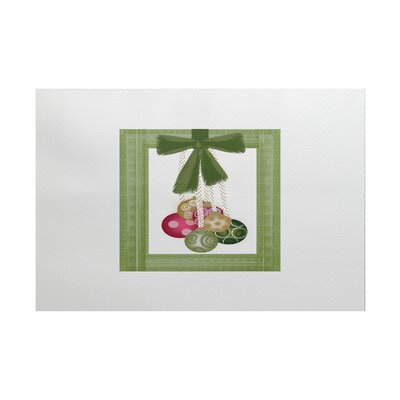Frame It Up Green/Off White Indoor/Outdoor Area Rug Rug Size: 5 x 7