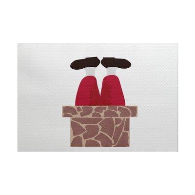 Away He Goes Brown/Red Indoor/Outdoor Area Rug Rug Size: 3 x 5