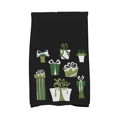 Present Time Hand Towel Color: Black