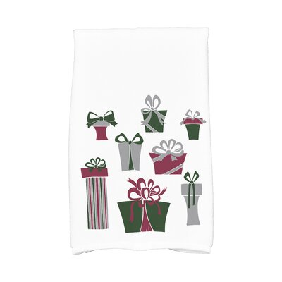 Present Time Hand Towel Color: White