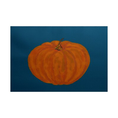 Lil Pumpkin Holiday Print Orange Indoor/Outdoor Area Rug Rug Size: 4 x 6