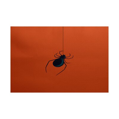 Eeek! Holiday Print Orange Indoor/Outdoor Area Rug Rug Size: 2 x 3