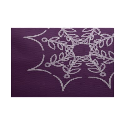 Web Art Holiday Print Purple Outdoor Indoor/Outdoor Area Rug Rug Size: 4 x 6