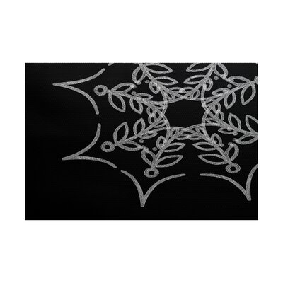 Web Art Holiday Print Black Indoor/Outdoor Area Rug Rug Size: 4 x 6
