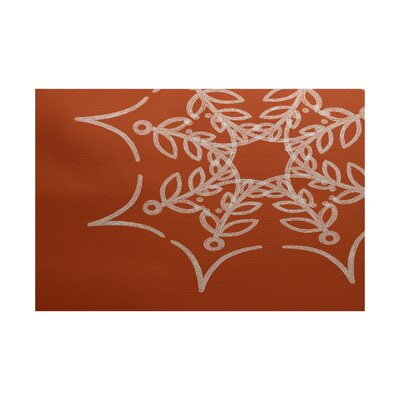 Web Art Holiday Print Orange Outdoor Indoor/Outdoor Area Rug Rug Size: 4 x 6