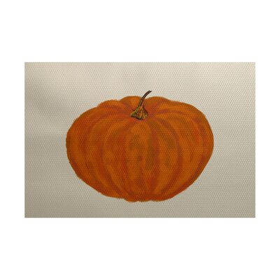 Lil Pumpkin Holiday Print Orange Indoor/Outdoor Area Rug Rug Size: Rectangle 3 x 5