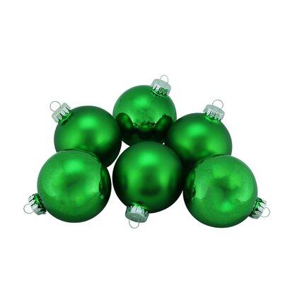 Traditional Glass Ball Christmas Ornament Color: Emerald Green