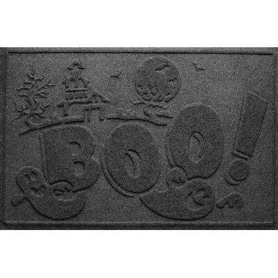 Aqua Shield Boo Ghost Doormat Color: Charcoal