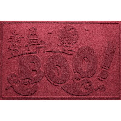 Aqua Shield Boo Ghost Doormat Color: Red/Black