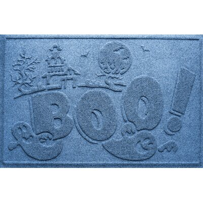Aqua Shield Boo Ghost Doormat Color: Medium Blue