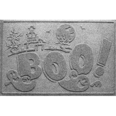 Aqua Shield Boo Ghost Doormat Color: Medium Grey