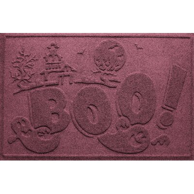 Aqua Shield Boo Ghost Doormat Color: Bordeaux