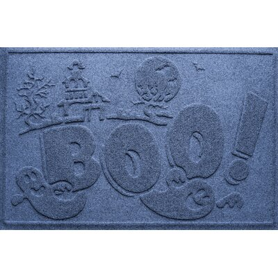 Aqua Shield Boo Ghost Doormat Color: Navy