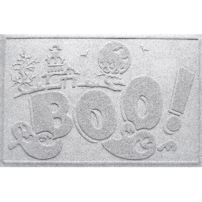 Aqua Shield Boo Ghost Doormat Color: White