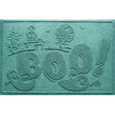 Aqua Shield Boo Ghost Doormat Color: Aquamarine