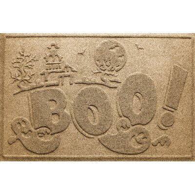 Aqua Shield Boo Ghost Doormat Color: Gold