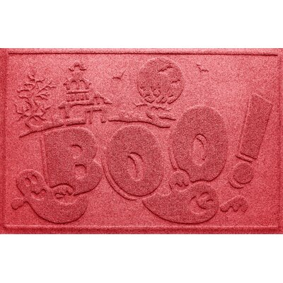 Aqua Shield Boo Ghost Doormat Color: Solid Red