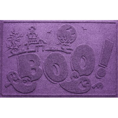 Aqua Shield Boo Ghost Doormat Color: Purple