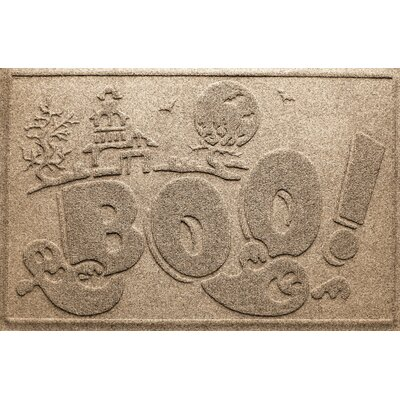 Aqua Shield Boo Ghost Doormat Color: Camel