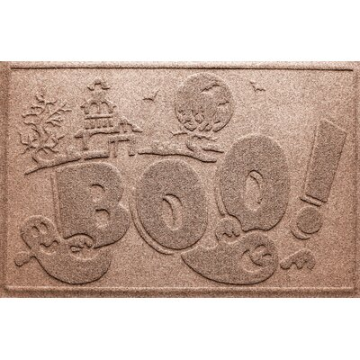 Aqua Shield Boo Ghost Doormat Color: Medium Brown