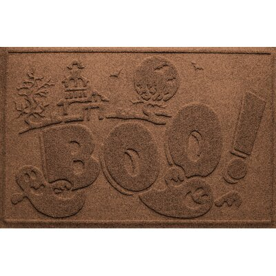 Aqua Shield Boo Ghost Doormat Color: Dark Brown