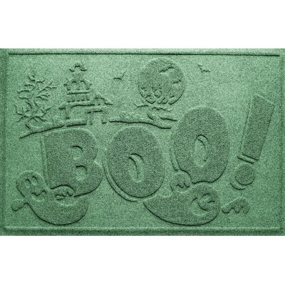 Aqua Shield Boo Ghost Doormat Color: Light Green