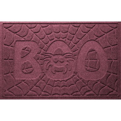 Aqua Shield Boo Spider Doormat Color: Bordeaux
